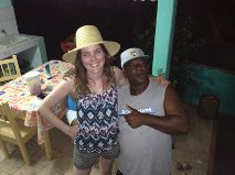 Carlos and I. He gave me the straw hat