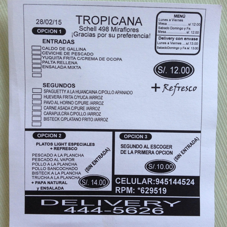 restaurante tropicana Miraflores