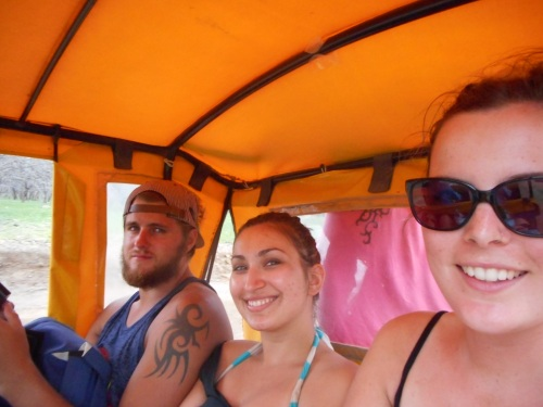In a mototaxi with one on the back!
