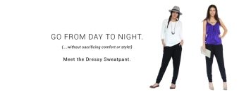 dressy sweat pant encircled