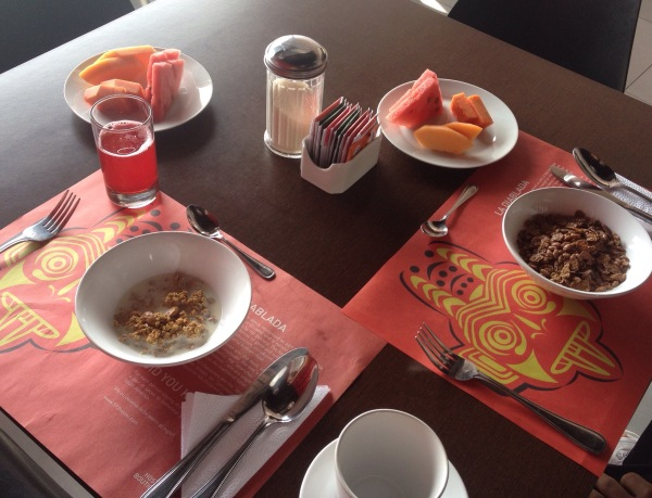 breakfast at 593 Boutique Hostel Quito